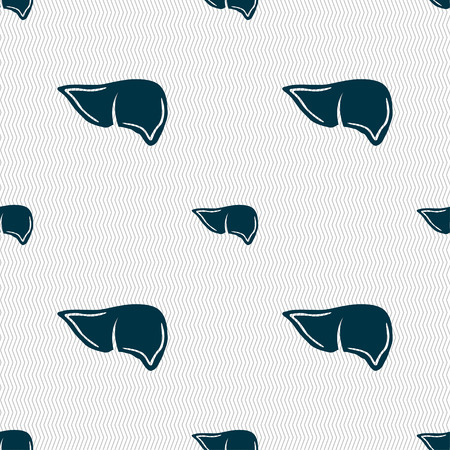 hepatology: Liver sign. Seamless pattern with geometric texture. illustration