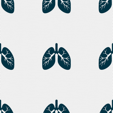 respire: Lungs sign. Seamless pattern with geometric texture. illustration