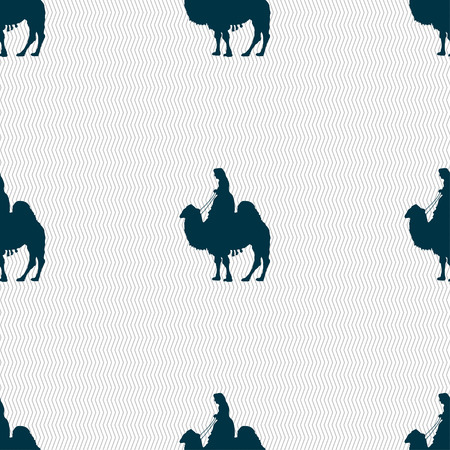 borden: Camel sign. Seamless pattern with geometric texture. illustration