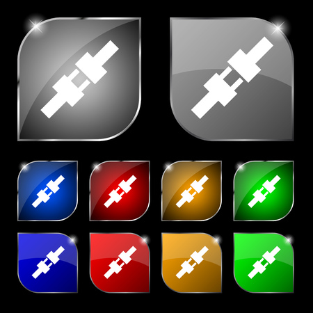 seatbelt: seat belt icon sign. Set of ten colorful buttons with glare. Vector illustration sign. Set of ten colorful buttons with glare. Vector illustration