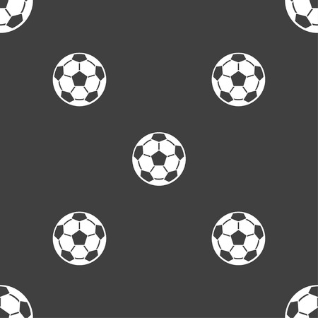 offside: Football icon sign. Seamless pattern on a gray background. Vector illustration