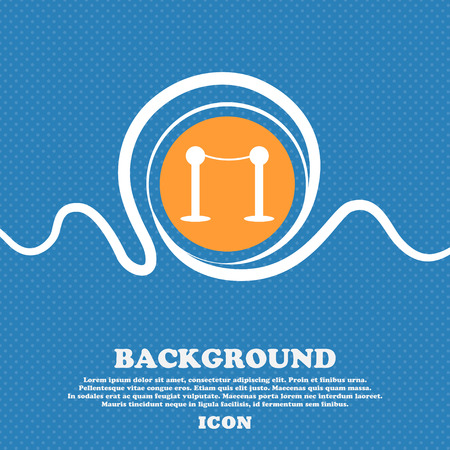 Cinema fence line icon sign. Blue and white abstract background flecked with space for text and your design. Vector illustration