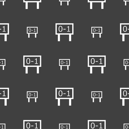 indicator board: Scoreboard icon sign. Seamless pattern on a gray background. Vector illustration