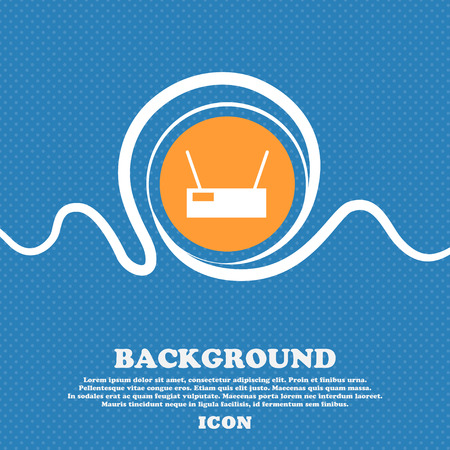 Wi-Fi Icon sign. Blue and white abstract background flecked with space for text and your design. Vector illustration