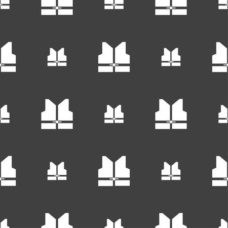 Lavorando gilet icona segno. seamless su uno sfondo grigio. illustrazione di vettore Vettoriali