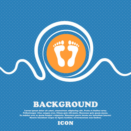 Food step Icon sign. Blue and white abstract background flecked with space for text and your design. Vector illustration