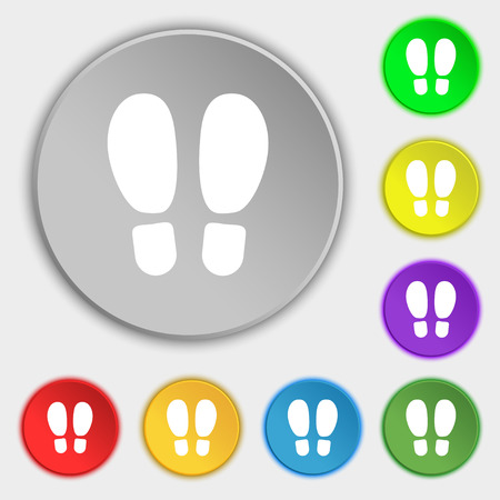 Food step Icon sign. Symbol on eight flat buttons. Vector illustration