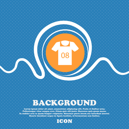 T-shirt Icon sign. Blue and white abstract background flecked with space for text and your design. Vector illustration Illustration