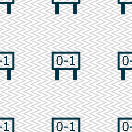 sec: Scoreboard icon sign. Seamless pattern with geometric texture. Vector illustration Illustration