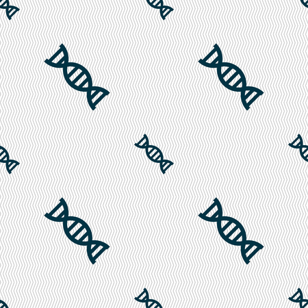 clone: DNA icon sign. Seamless pattern with geometric texture. Vector illustration