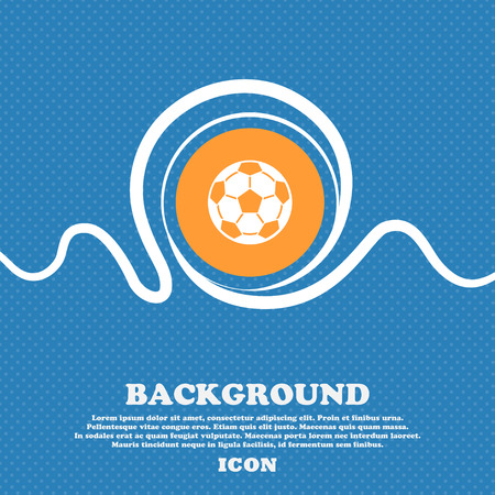 Football icon sign. Blue and white abstract background flecked with space for text and your design. Vector illustration Illustration