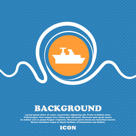 brigantine: Ships, boats, cargo icon sign. Blue and white abstract background flecked with space for text and your design. Vector illustration Illustration