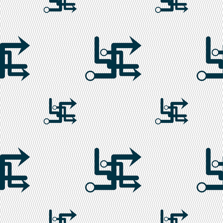 directory book: Transfer icon sign. Seamless pattern with geometric texture. Vector illustration Illustration