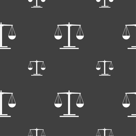scales Icon sign. Seamless pattern on a gray background. Vector illustration Illusztráció