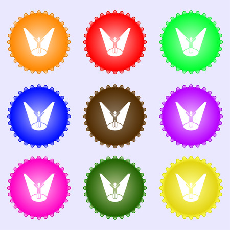 Spotlight icon sign. Big set of colorful, diverse, high-quality buttons. Vector illustration