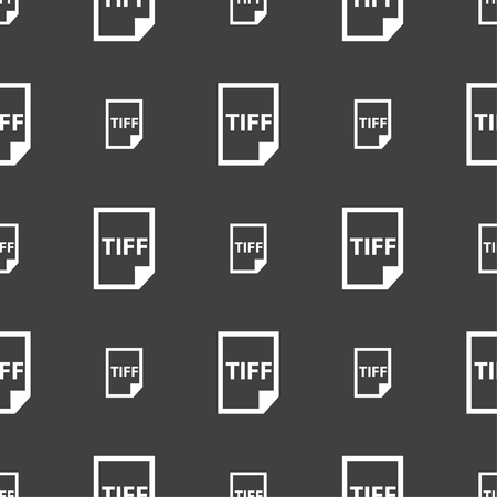 tiff: TIFF Icon. sign. Seamless pattern on a gray background. Vector illustration
