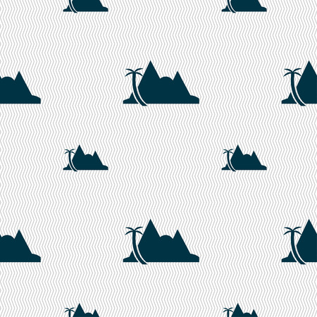 mirage: Mirage icon sign. Seamless pattern with geometric texture. Vector illustration