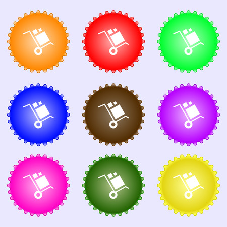 loader Icon sign. Big set of colorful, diverse, high-quality buttons. Vector illustration Çizim