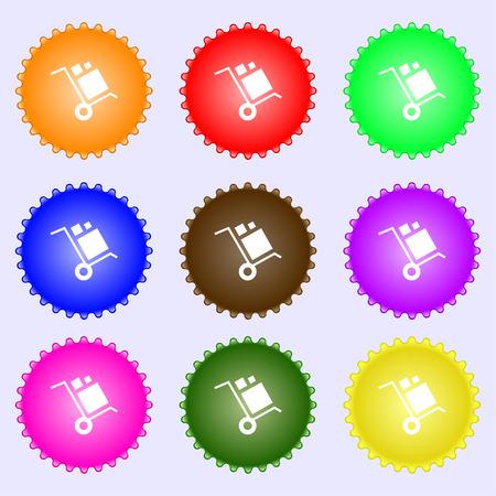 loader Icon sign. Big set of colorful, diverse, high-quality buttons. Vector illustration Illustration