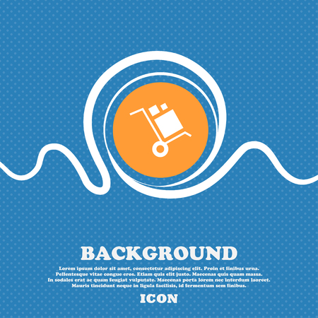loader Icon sign. Blue and white abstract background flecked with space for text and your design. Vector illustration