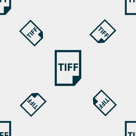 file types: TIFF Icon. sign. Seamless pattern with geometric texture. Vector illustration