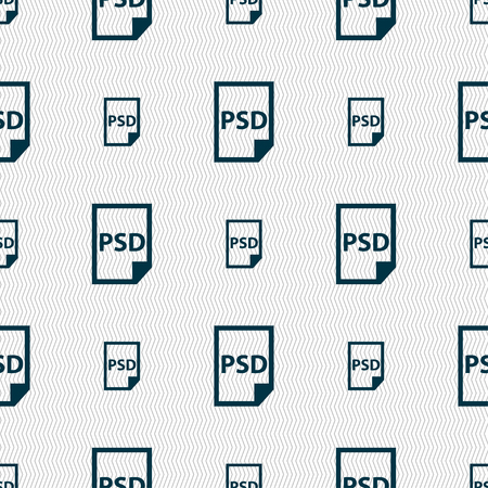 file types: PSD Icon sign. Seamless pattern with geometric texture. Vector illustration