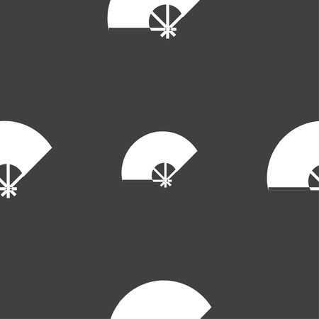 Fan icon sign. Seamless pattern on a gray background. Vector illustration Illustration