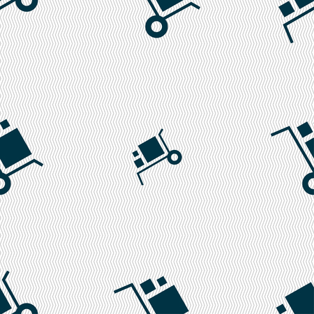loader Icon sign. Seamless pattern with geometric texture. Vector illustration