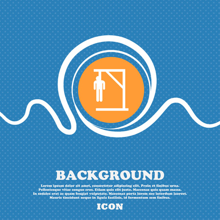 coward: Suicide concept icon sign. Blue and white abstract background flecked with space for text and your design. Vector illustration Illustration