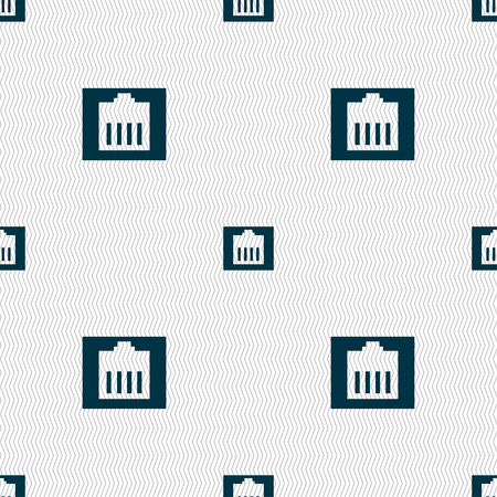 bandwidth: Internet cable, RJ-45 icon sign. Seamless pattern with geometric texture. Vector illustration