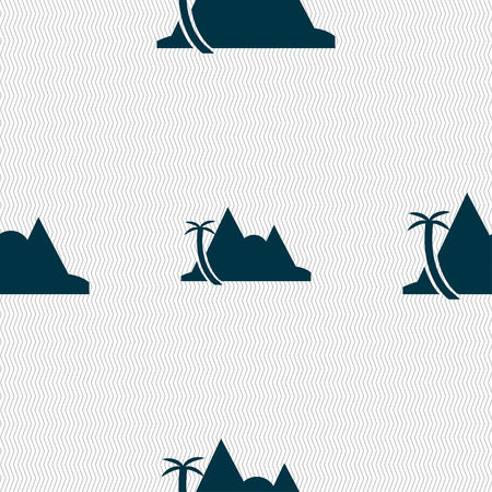 a mirage: Mirage icon sign. Seamless pattern with geometric texture. Vector illustration