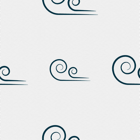 whirl: wind icon sign. Seamless pattern with geometric texture. Vector illustration Illustration