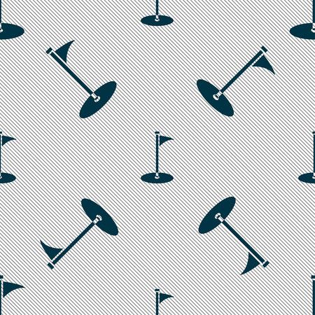 골프 아이콘 기호입니다. 기하학적 인 텍스처와 원활한 패턴입니다. 벡터 일러스트 레이 션