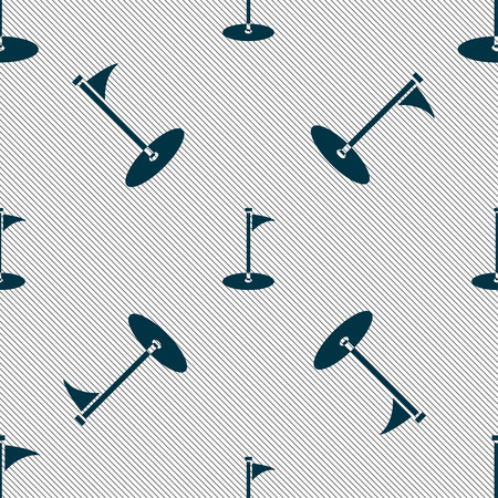 Golf icon sign. Seamless pattern with geometric texture. Vector illustration Ilustração