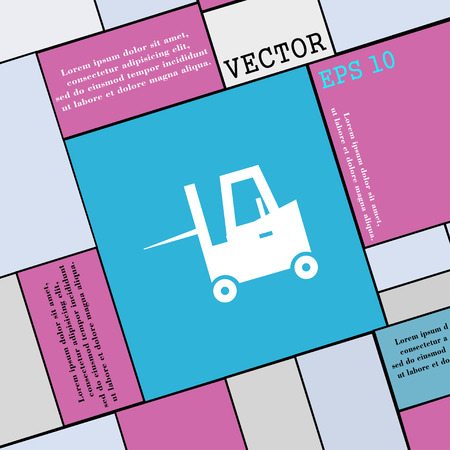 sub: Forklift icon sign. Modern flat style for your design. Vector illustration