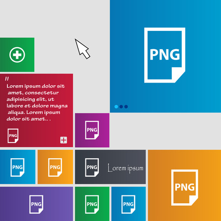 png: PNG Icon sign. buttons. Modern interface website buttons with cursor pointer. Vector illustration