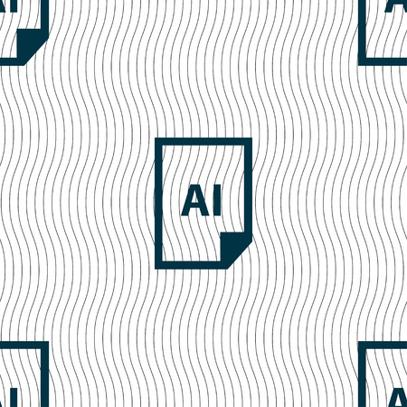 coreldraw: file AI icon sign. Seamless pattern with geometric texture. Vector illustration