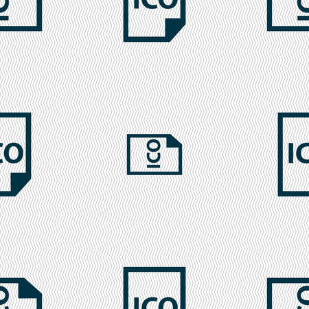 slash: file ico icon sign. Seamless pattern with geometric texture. Vector illustration Illustration