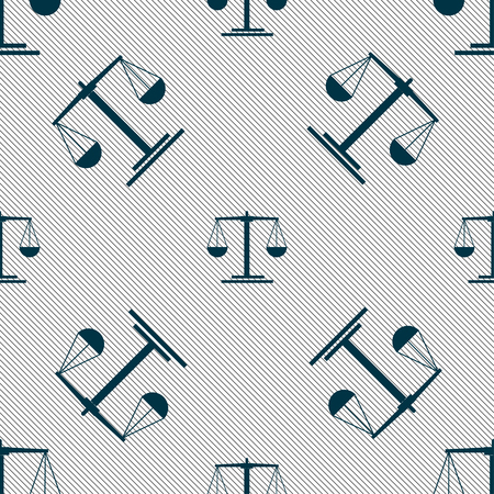 scales Icon sign. Seamless pattern with geometric texture. Vector illustration Illusztráció