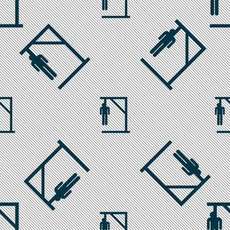 coward: Suicide concept icon sign. Seamless pattern with geometric texture. Vector illustration Illustration