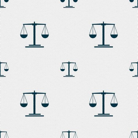scales Icon sign. Seamless pattern with geometric texture. Vector illustration Illusztráció