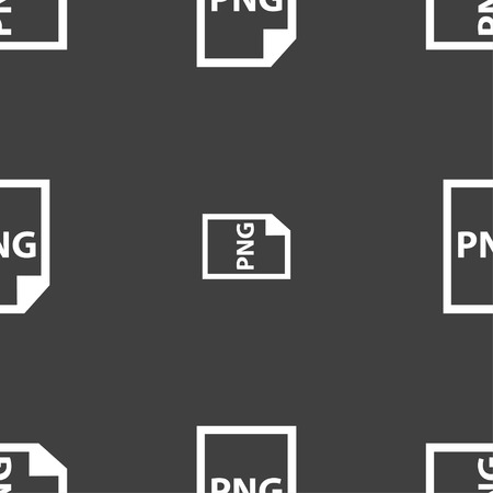 png: PNG Icon sign. Seamless pattern on a gray background. Vector illustration Illustration