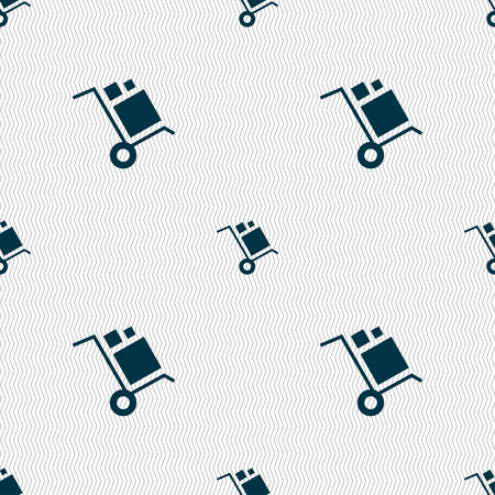 sear: loader Icon sign. Seamless pattern with geometric texture. Vector illustration