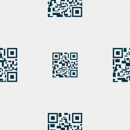 medical distribution: Barcode Icon sign. Seamless pattern with geometric texture. Vector illustration