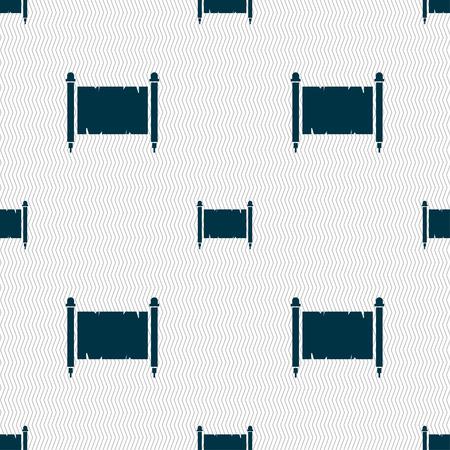 Altes Pergament Blatt Papier Zeichen . Nahtloses Muster mit geometrischer Beschaffenheit . Vektor-Illustration