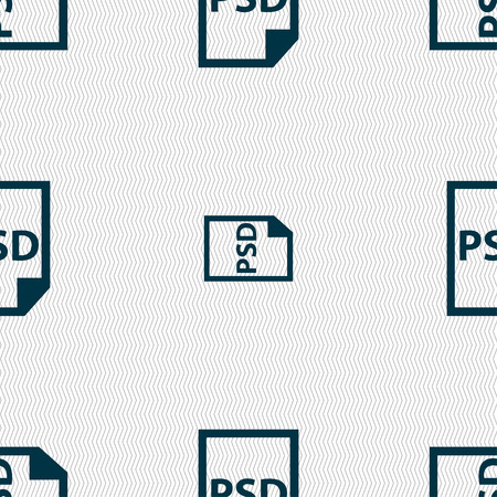 psd: PSD Icon sign. Seamless pattern with geometric texture. Vector illustration