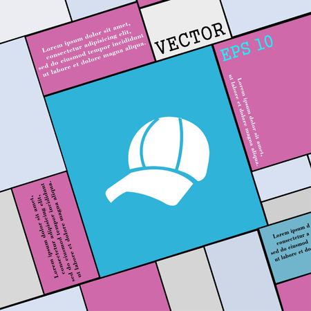 peak hat: Ball cap icon sign. Modern flat style for your design. Vector illustration Illustration