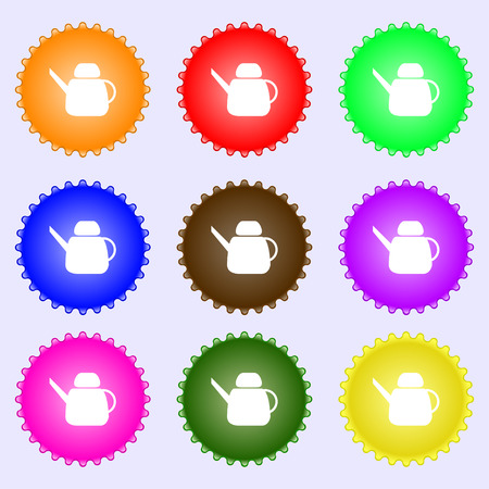 Kettle Icon sign. Big set of colorful, diverse, high-quality buttons. Vector illustration