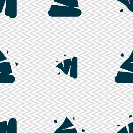livelihoods: Poo icon sign. Seamless pattern with geometric texture. Vector illustration