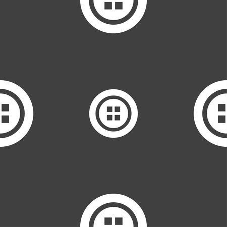 clincher: Sewing button sign. Seamless pattern on a gray background. Vector illustration